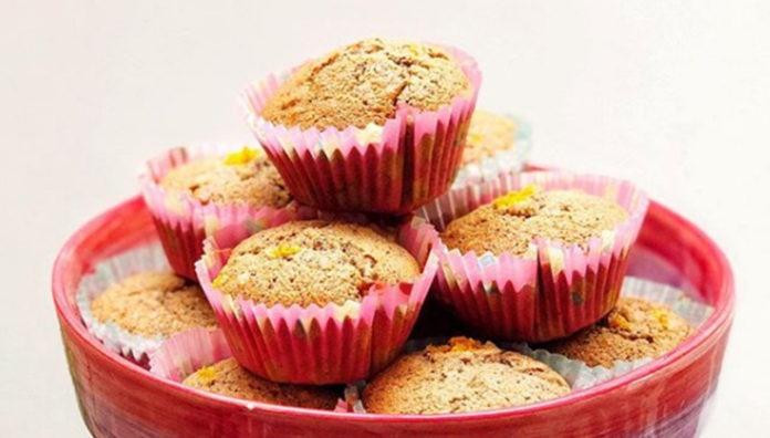 muffins de naranja y amapola